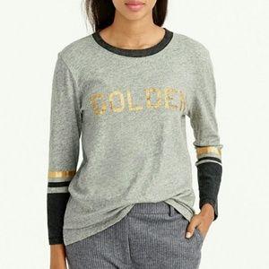 J.Crew GOLDEN T Shirt Gray Marled Top XXS